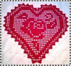 """Meu Cantinho: """"Tapete Coração em Crochê"""""""
