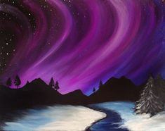 Holiday and Winter Painting selections at Graffiti Paintbar