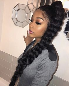 Gorgeous high ponytail hairstyles for black women New ones of course . - Gorgeous high ponytail hairstyles for black women New natural hairstyles - High Ponytail Braid, Black Ponytail Hairstyles, Hair Ponytail Styles, Braided Hairstyles For Black Women, High Ponytails, Baddie Hairstyles, Weave Hairstyles, Hairdos, Gorgeous Hairstyles