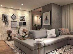 Best Home Decor ideas Living Room Lighting, Living Room Decor, Bedroom Decor, Style At Home, Interior Design Living Room, Living Room Designs, Small Apartments, House Rooms, Home Fashion