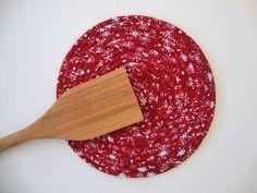 COILED ROPE TRIVET  Handmade Trivet  Plant Coaster  by Jambearies