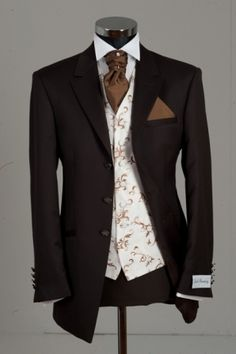 Brown Wedding Suit -This Suit is made in Germany with top designer wear formal Wilvorst. Jack Bunneys call this as Berwick