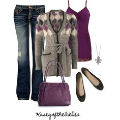 """Purple and Black"" by kaseyofthefields on Polyvore"