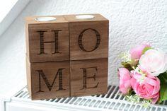 decoración para el hogar vela titular Portavelas de madera porta té luz boda…