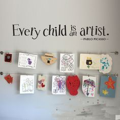 DIY Quote Wall Sticker Every Child is an Artist Vinyl Decal Children Artwork Display Wall Decals Removable Home Decoration ZB143-in Wall Stickers from Home & Garden on Aliexpress.com | Alibaba Group