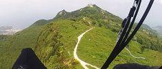 Parapendio a Ischia. La performance di Jorgen Emmerik Andersen. Percorsi 8,7 km per un'altezza massima di 961 metri s.l.m.