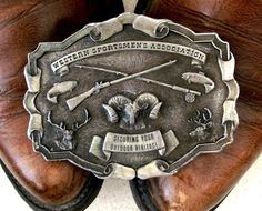 1976 Western Sportsmen Association belt by honeyblossomstudio, $19.99