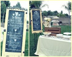 Bridal shower table display