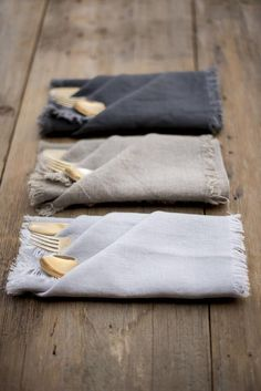 Set 4 Linen Napkins-18 colors-Pure Linen Napkins-Washed linen Napkins-Large Size Dinner Napkins-R...