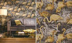 Te koop bij www.cdinterieurs.nl Behang Arte - Flamingo