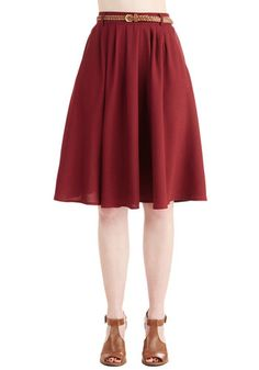 Breathtaking Tiger Lilies Skirt in Merlot. This morning, a bundle of bright flowers was waiting at your door. #gold #prom #modcloth