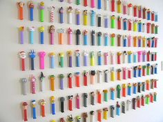 Ok, want is a little strong of a sentiment, but Sandis does have a collection of pez dispensers and this might be a fun way to display them