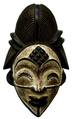 A Punu tribe mask. Gabon West Africa