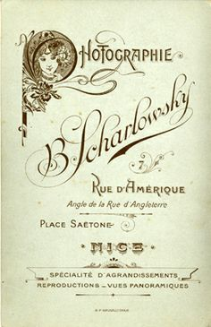 B. SCHARLOWSKY - Nice, Alpes-Maritimes