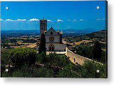 Assisi-basilica Di San Francesco Acrylic Print by Cesare Bargiggia