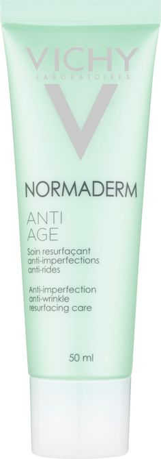 Vichy Normaderm Anti-Ageing - Anti-Imperfection, Anti-Wrinkle Resurfacing Care 50ml. Go-to everyday moisturiser because it is the perfect product for ageing combination skin – it keeps my skin clear, it doesn't feel greasy during those times when almost everything else does, and it hydrates just enough (unlike many product designed to help with blemishes).