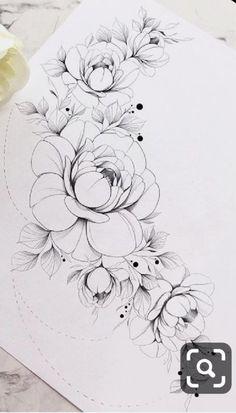Hip Tattoos Women, Arm Tattoos, Body Art Tattoos, Sleeve Tattoos, Floral Tattoo Design, Flower Tattoo Designs, Flower Tattoos, Vintage Rose Tattoos, Tasteful Tattoos