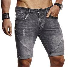 98d920868c8c LEIF NELSON Herren Männer Jungen Sommer kurze Jogger Jeans Hose Shorts  Jeanshose Chinos Cargo Bermuda Basic 5-pocket - Sommer Hosen Trends  sommerhosen ...