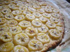 tarta de bananas con caramelo