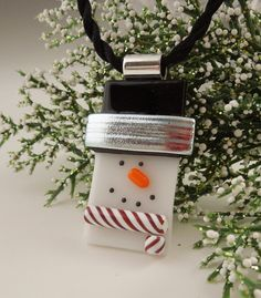 Christmas Ornament  Dichroic Fused Glass  by GalaxyGlassStudio, $19.00