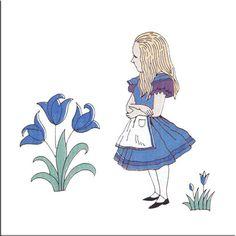 Alice in Wonderland, original CFA Voysey design for Alice in Wonderlandproduced by Minton Co., 1890s