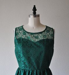 wont be lace,but the idea i was going for is dark fabric underneath then a sheer piece over the top Emerald Green Lace Dress, Green Lace Dresses, Fancy Black Dress, Sash, Provence, Chiffon, High Neck Dress, Neckline, Bridesmaid