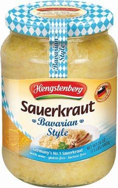 Hengstenberg Sauerkraut, Bavarian Style, 24 Oz