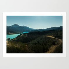 Collect your choice of gallery quality Giclée, or fine art prints custom trimmed by hand in a variety of sizes with a white border for framing. mountain, nature, photography, landscape, wanderlust, photo, art print, forest, island, beach, river, water, blue, green, sky, sunlight, path, road, dark, mystery, explore, island stories, story, tapestry, duvet cover, bedroom, interior design