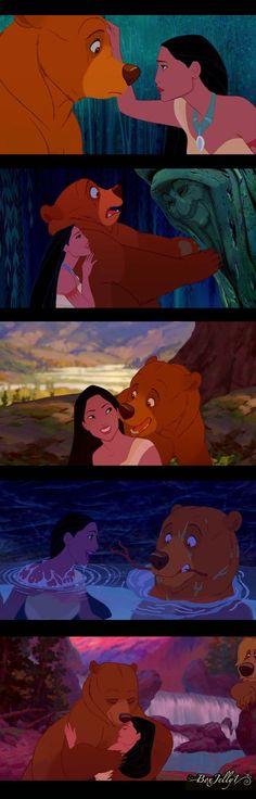 Pocahontas and Kenai Disney Edit