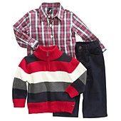 Nautica Baby Set, Baby Boys 3-Piece Sweater, Shirt and Pants