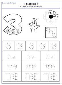 Classe prima, matematica: il numero 3, schede da scaricare ...