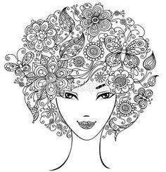 Floral do - Retro Girl Art