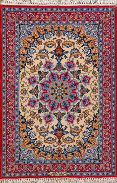 "Esfahan Persian Rug, Buy Handmade Esfahan Persian Rug 2' 4"" x 3' 5"", Authentic Persian Rug"