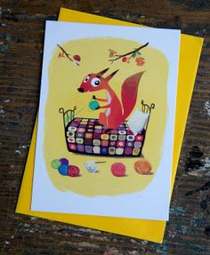 The Crafty Squirrel Cards Patchwork Crochet by namolio on Etsy