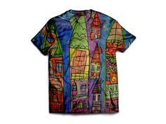 Candy Coated Capital by Kathy Baldwin. Unisex poly-cotton blend t-shirt. You can find this and more awesome art at wearelions.org! Each purchase funds autism acceptance and awareness! #wearelions #roarloud