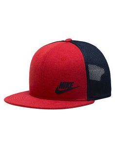 db2f04cfb47  NIKE  Snapback hat  NIKE logo embroidered on front  Six-panel design with  interior taping for classic style and comfort  Embroidered eyelets for ...