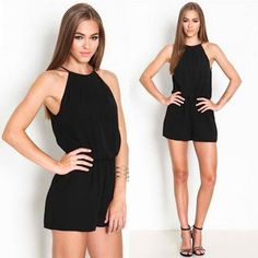Real deals for you: Sexy Summer Brand Casual Black Sleeveless Halter K...