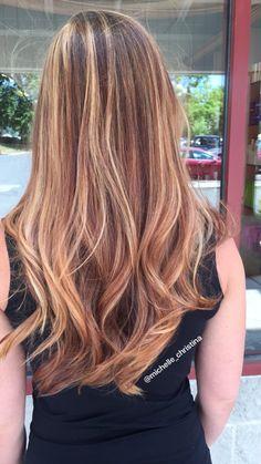 Balayage #balayage #hairpainting #warmtones #cooper #red #golden #blonde