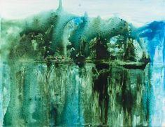 "Saatchi Art Artist Grażyna Smalej; Painting, ""the Sacred Lake"" #art"