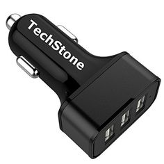 $3.99 (60% Off) on LootHoot.com - Car Charger,TechStone 3 Ports USB Smart Car Charger 36W / 7.2A Smart Charge for iPhone 7 6S Plus 6 Plus 6 5SE 5S 5 5C 4S, Samsung Galaxy S7 S6 Edge, Note 5 4 S5 Tab S,LG G5 G4,HTC,iPads Pro Portable