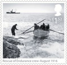 Shackleton and the Endurance Expedition 1st Stamp (2016) Rescue of Endurance crew - August 1916