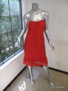 Twelfth St Cynthia Vincent Red Drawstring Waist Dressp | eBay