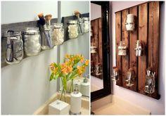 Muebles y accesorios de baño con reciclaje de palets. Veréis la de ideas bonitas, fáciles y útiles de reciclaje en el aseo que hay.