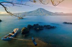 Ranau Lake, West Lampung, Indonesia.