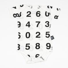Nununu White Number-Print Body