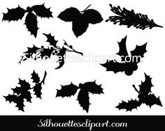 Christmas Leaf Vector Graphics
