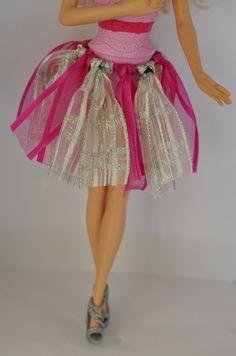 DIY Barbie Clothes - Ribbon Tutu