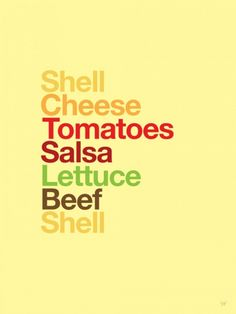 Type Sandwiches...Helvetica style