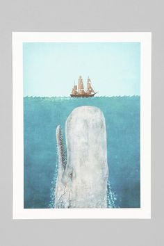 Terry Fan The Whale Art Print- for my brother jonah