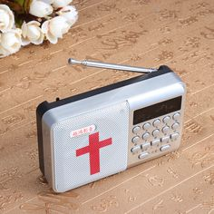 Rechargeable Electronic Bible MP3 Audio Player Built-in Loud Speaker Mini Radio English Version